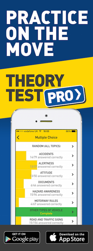 Theory Test Pro in partnership with Castle Valley Som